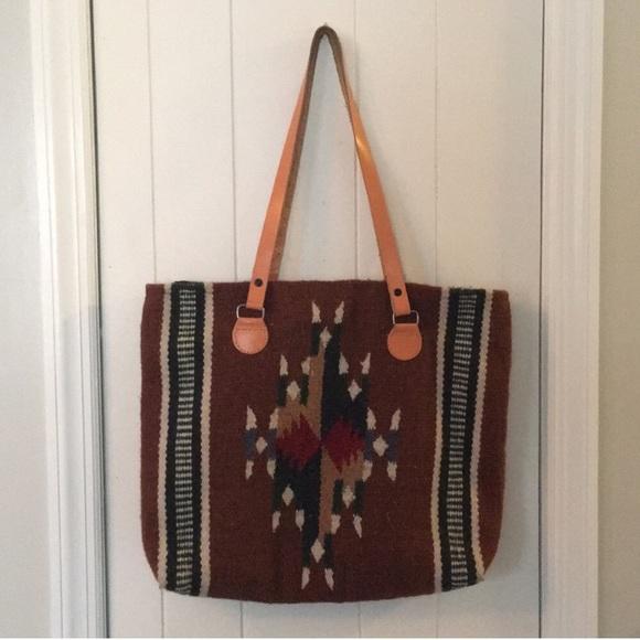 b6470f97ccfa0 Bags | Aztec Native American Tribal Tote Bag Brown | Poshmark